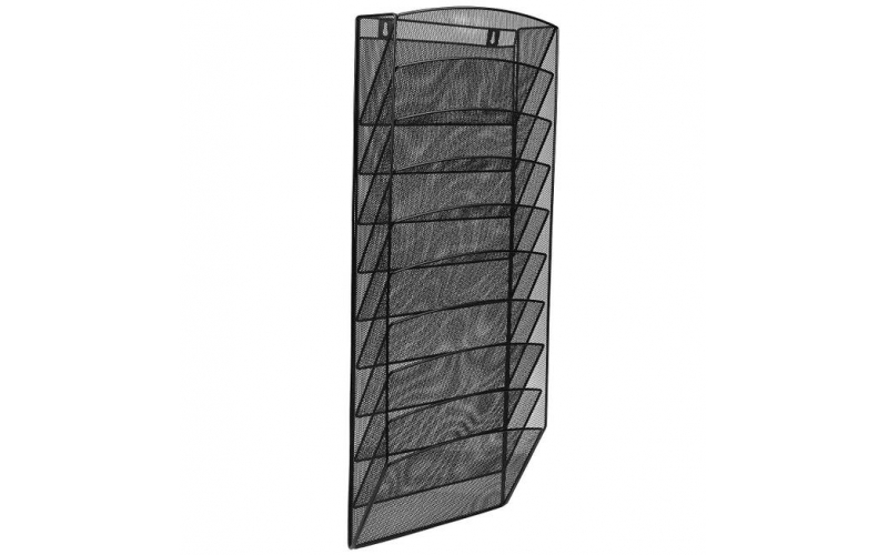 Steel Mesh Magazine Wall Rack - Functional Opaque Magazine Organizer - Great for Lobbies Reception Areas & More 10 Pocket