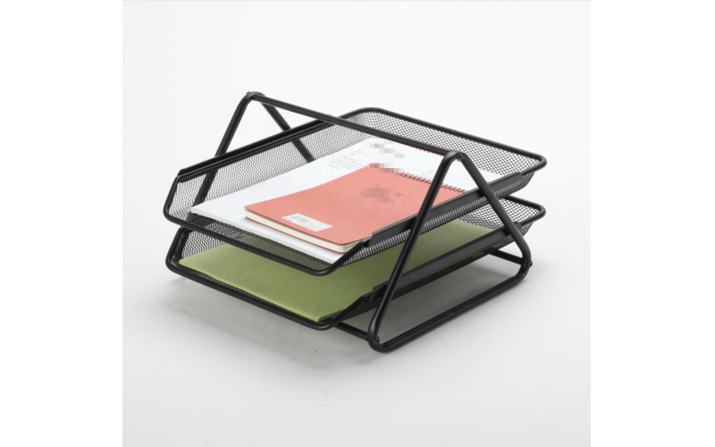 Steel Mesh office 2 tiers document tray