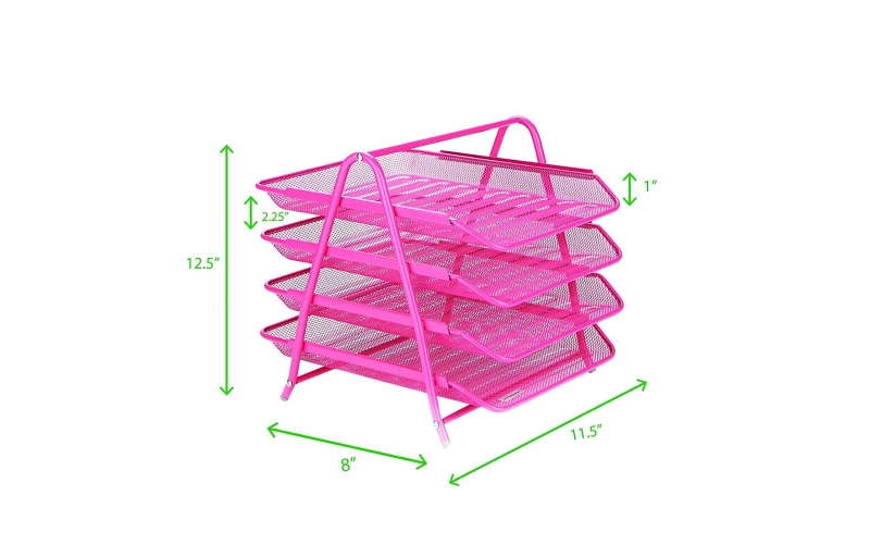 office and school supplies metal mesh 5 tier file candy