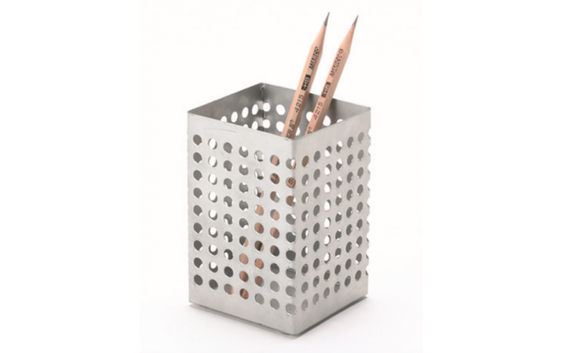 high quality custom square metal steel pen holder