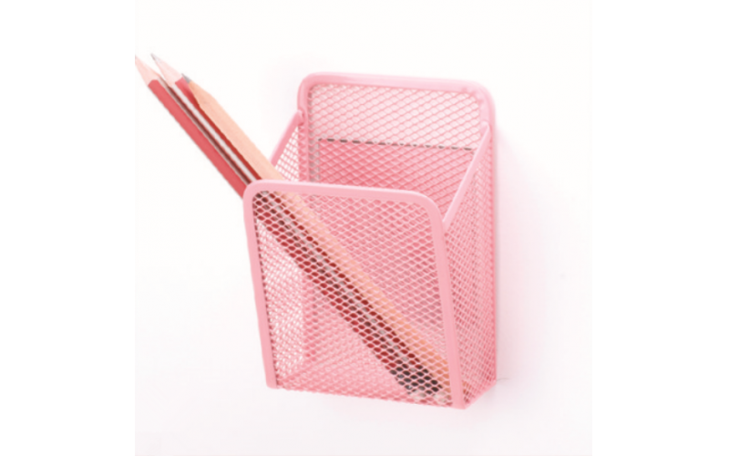 Magnetic Pencil Holder Mesh Pen Holder Wire Mesh Storage Baskets with Magnets for Whiteboard Hold Locker Accessories