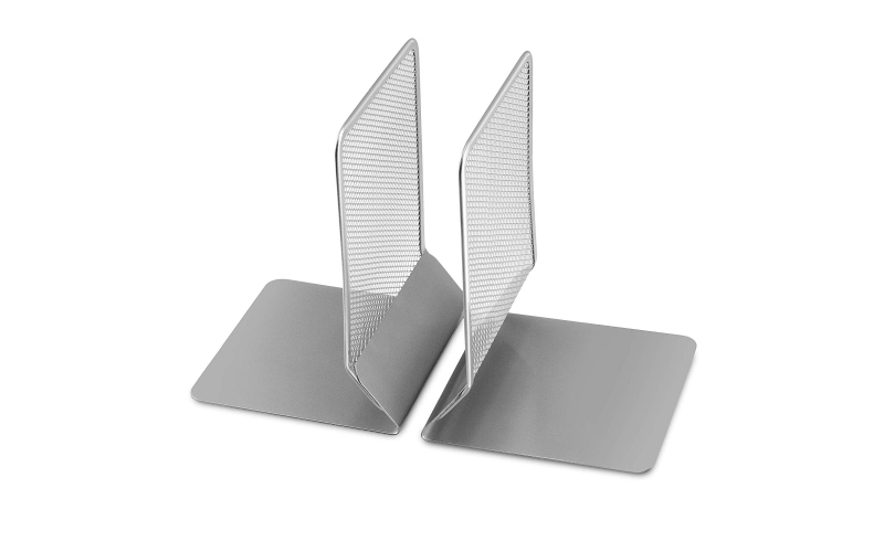 Sam Mesh Metal Bookends Desk Book Holder Set of 2